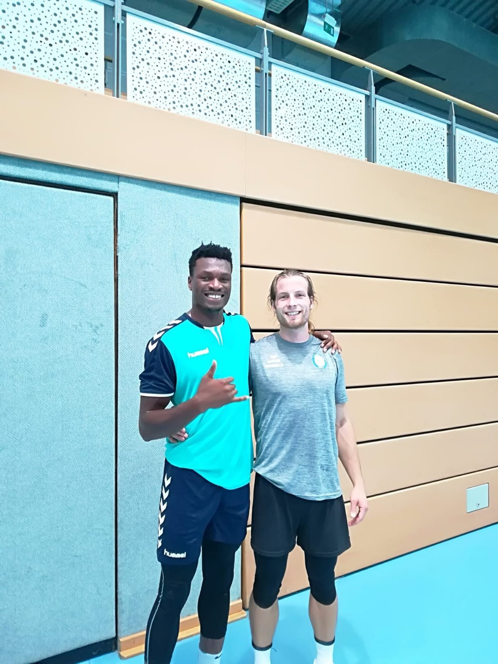 Uchenna Ofoha and Patrick Strzalkowski pictured before their pre-season game.