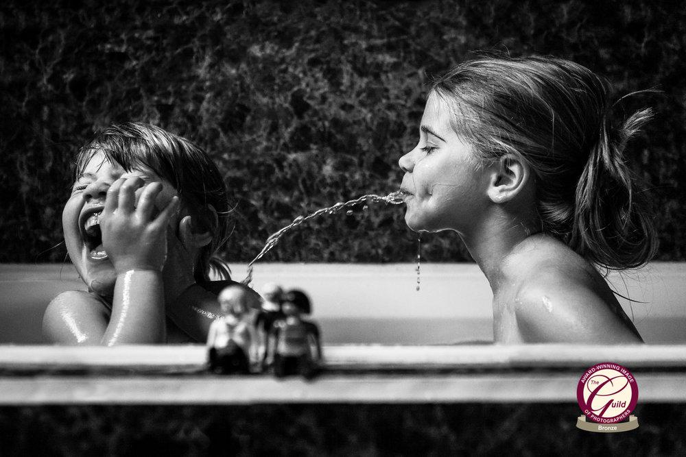 My girls enjoying bath time...