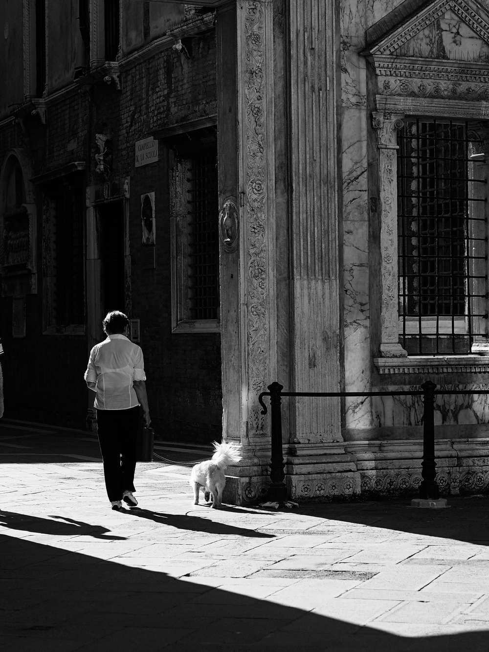 Walking the dog, Venice