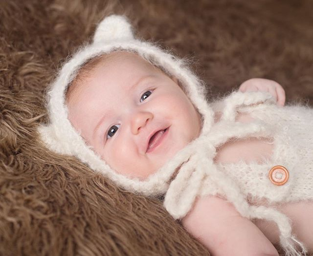 Looks like a good day for a bear hat! Sweet little lady from a baby shoot last week.