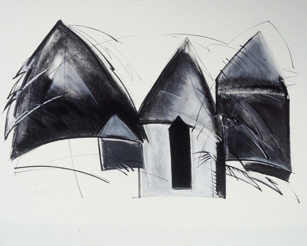 """Dwellings"" Black and White"