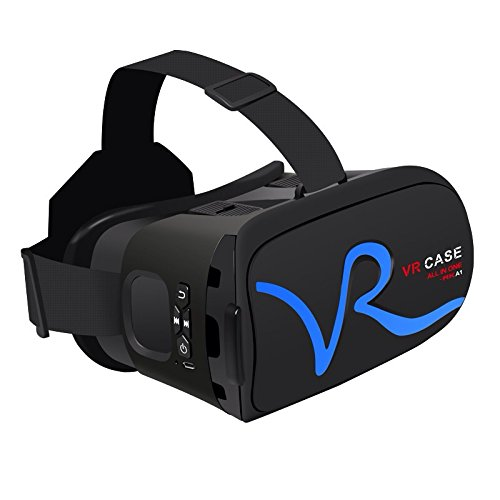 samsung virtual reality headset. cage sents 3d vr headset, virtual reality with optical lenses for iphone samsung and 4.0-6.0 inches smart phones(blue) case rka1 \u2014 headset e