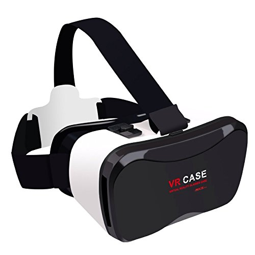 samsung virtual reality headset. cage sents vr case 5plus, 3d headset virtual reality box with adjustable lens and strap for iphone 5 5s 6 plus samsung s3 edge note 4 3.5-5.5 inch r