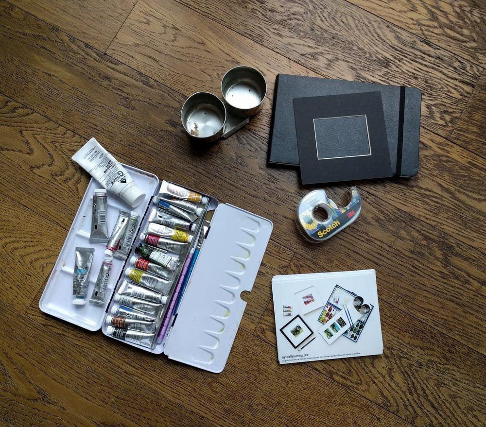 My super lightweight plein air painting kit!