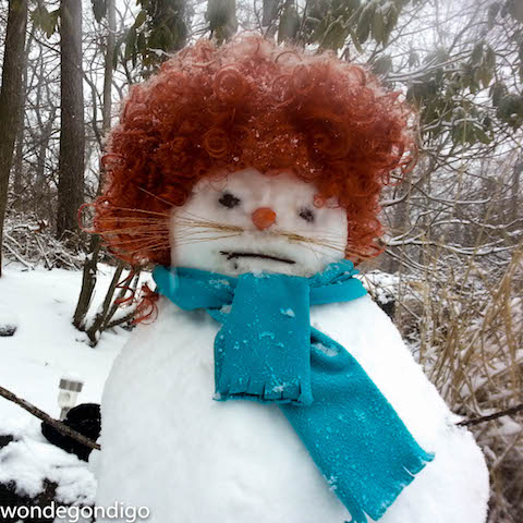 Welcome!  Grumpy Snow Woman heralds a new day of consuming even more makeup.