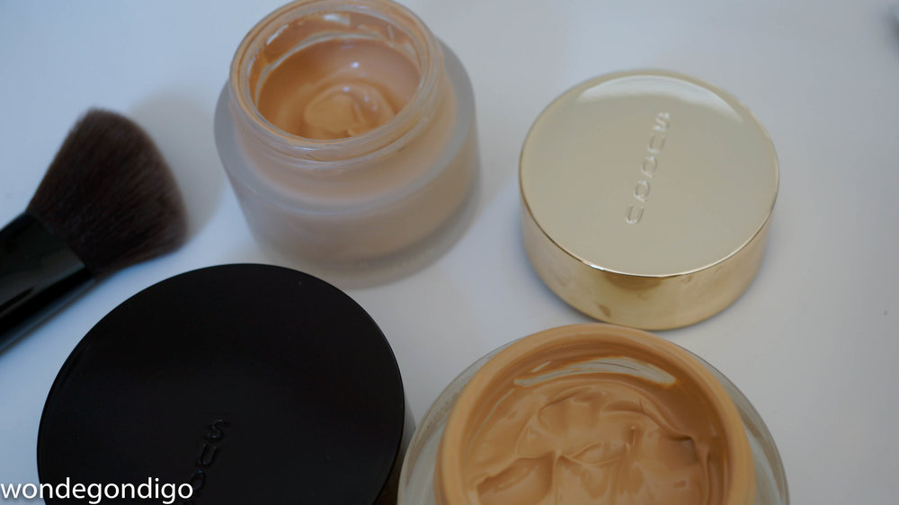 Extra Rich Cream Foundation on top; original Cream Foundation on bottom