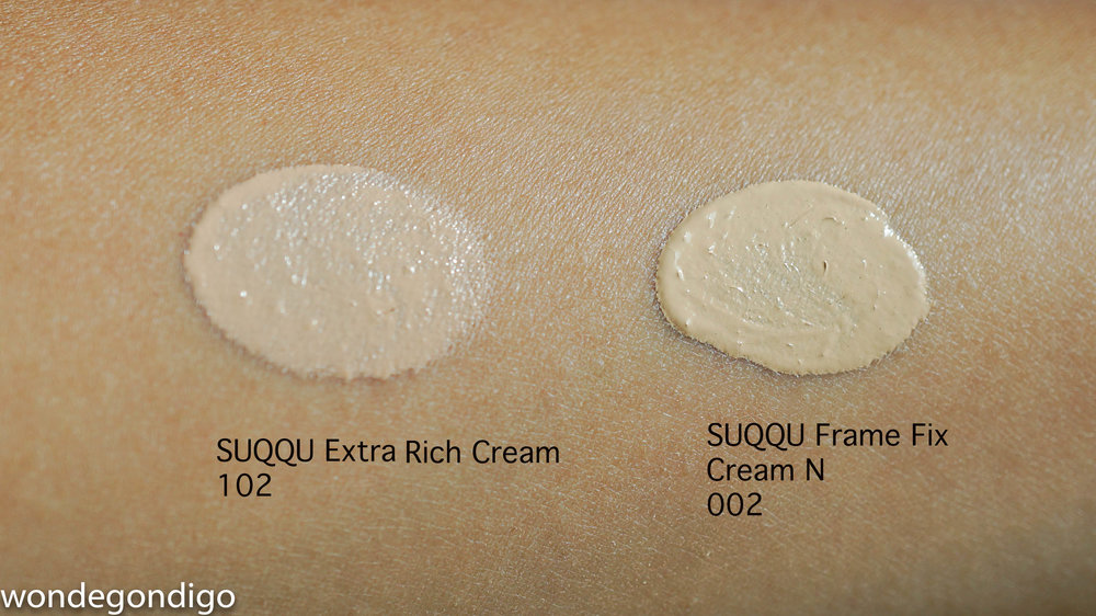 SUQQU Extra Rich Cream Foundation Shade 102 & SUQQU FFCN Foundation Shade 002