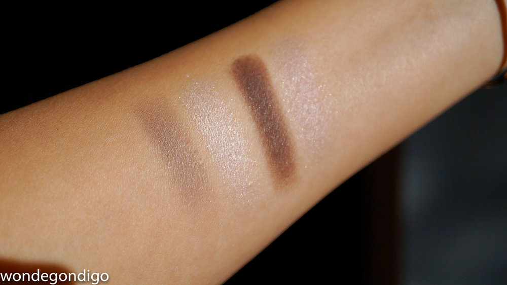 Swatches of Lunasol Selection de Chocolat Eyes - 03 Chocolat Raisin