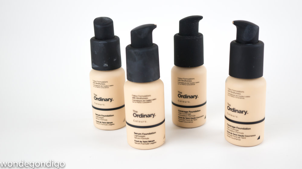 Serum and Coverage Foundations from The Ordinary