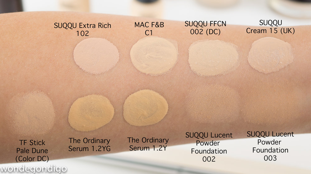 Suqqu foundation colour guide