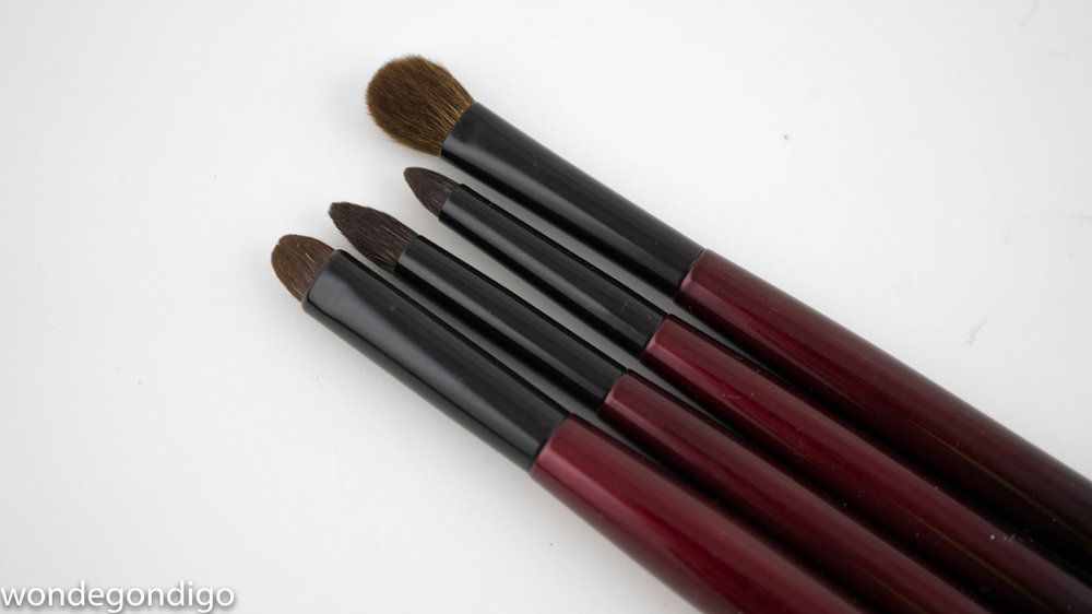 The eye brushes in the Sonia G. Fundamental Brush Collection