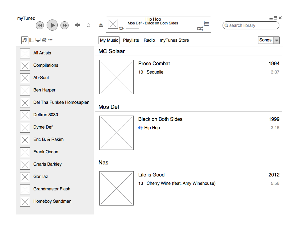 Prototyping in Balsamiq