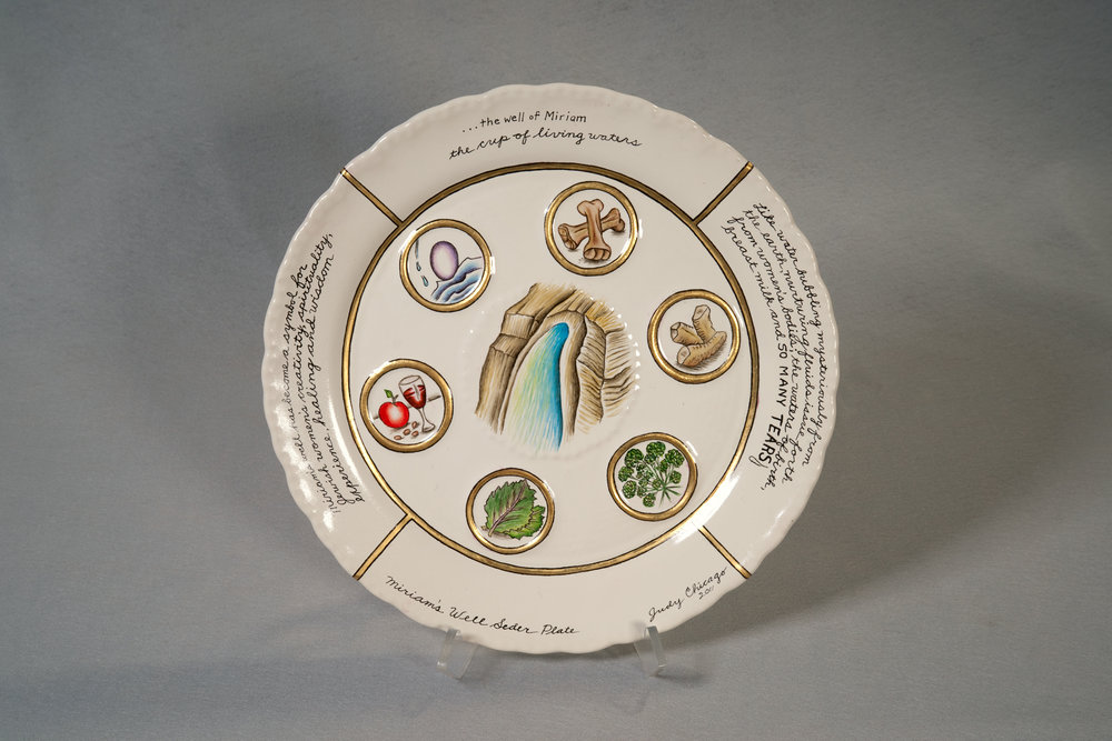Judy Chicago,  Miriam's Well Seder Plate , 2011