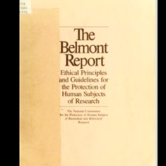 The Belmont Report, 1979, the first (and still in some ways, most influential) document on doing research with other human participants.  IMO, we urgently need to have a conversation, as folks doing UX and design research, on ethics, consent, and best practices.