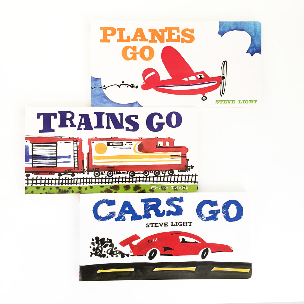 Cars Go, Planes Go, Trains Go + Giveaway | Little Lit Book Series