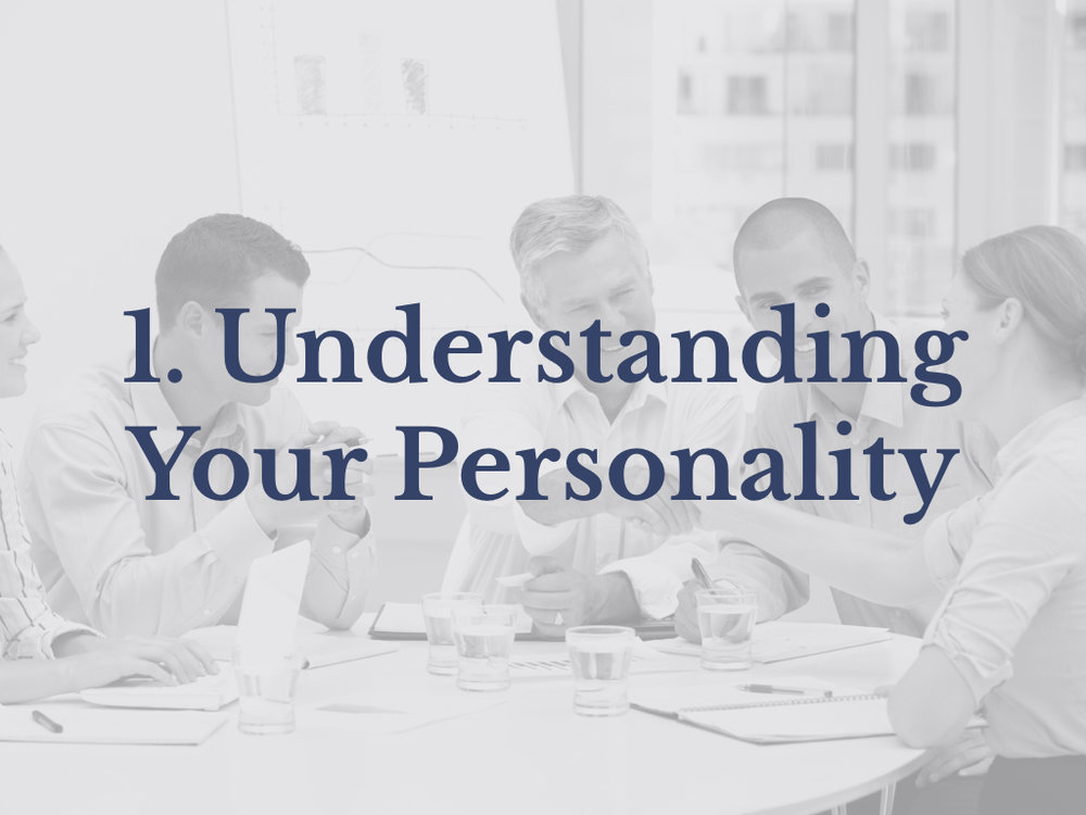 Lesson 1: Understanding Your Personality