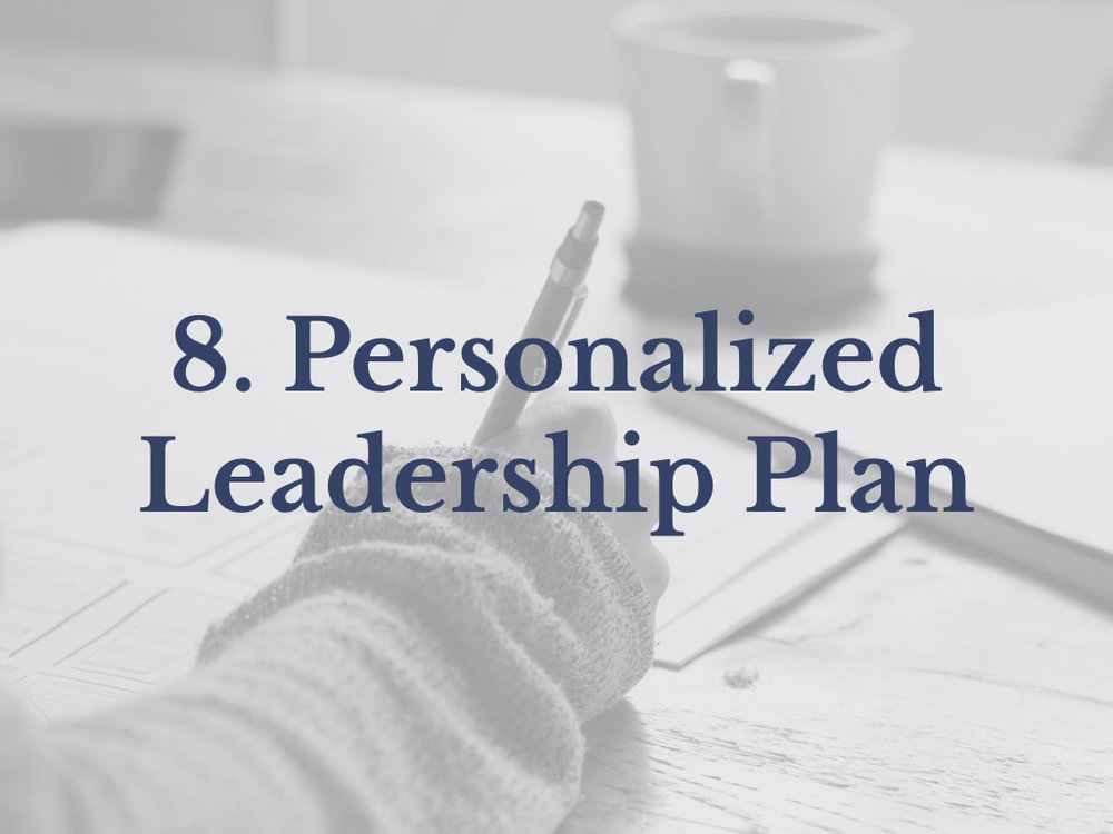 Lesson 8: Personalized Leadership Plan