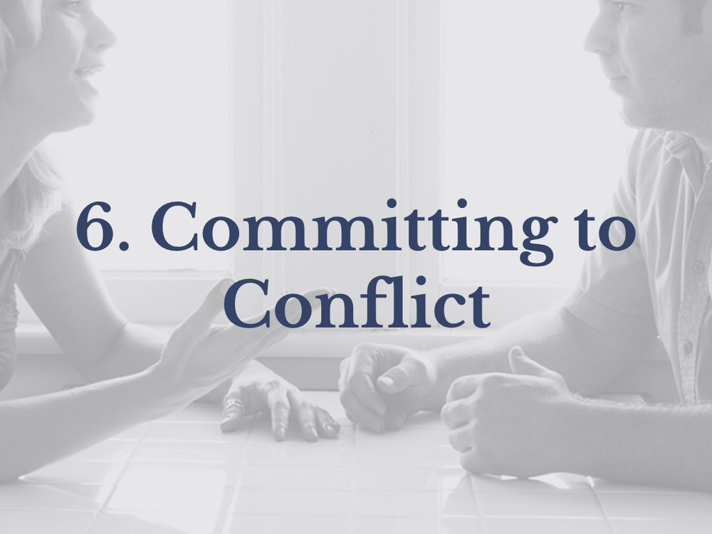 Lesson 6: Committing to Conflict
