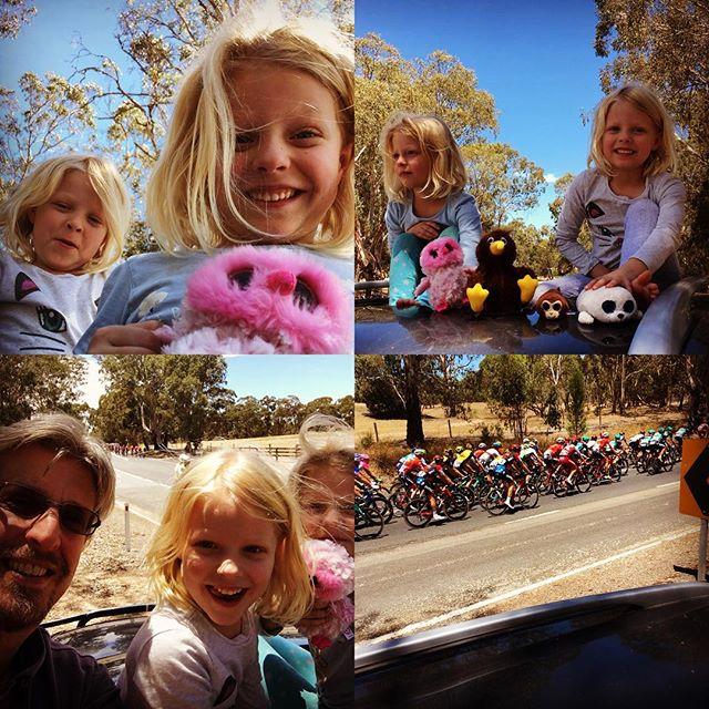 Team Nature & Nurture Farms watching the tour down under!! #tourdownunder #pushyourlimits #cycling #barossa #southaustralia #twins #team #farming #freshfood #natural