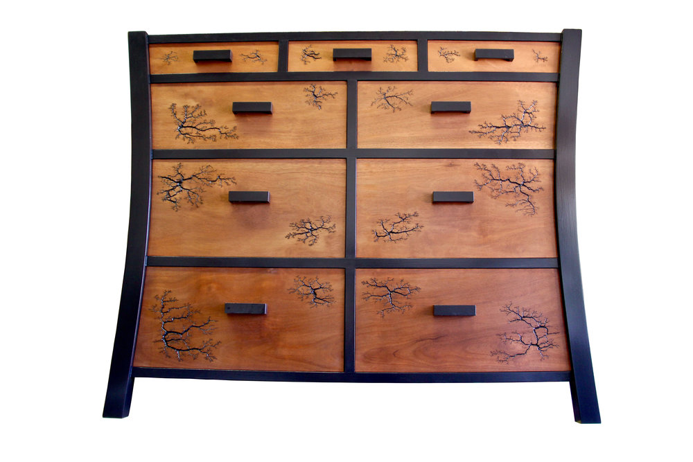 Tansu Dresser - with Lichtenberg Figures