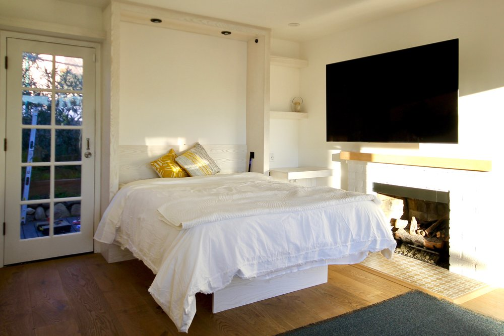 Recent Commission: White-washed Ash Murphy Bed