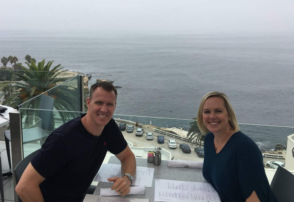 Lunching in La Jolla at George's.