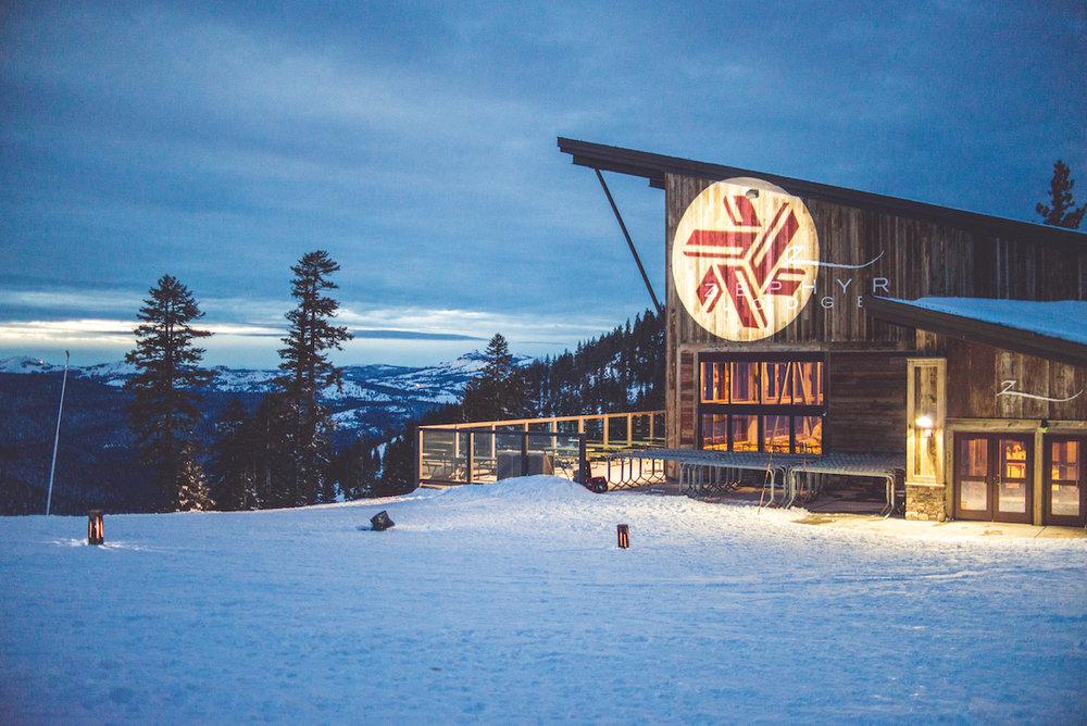 Zephyr Lodge at dusk awaiting guests.