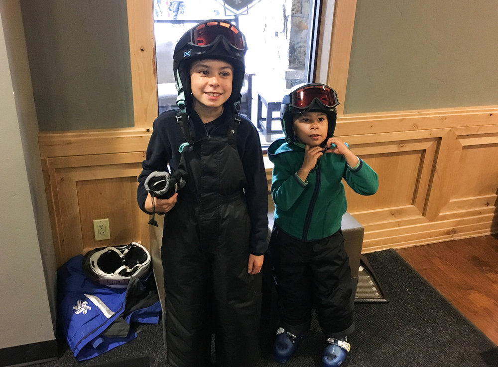 Suiting up at the Adventure, Guiding and Learning Center at Northstar