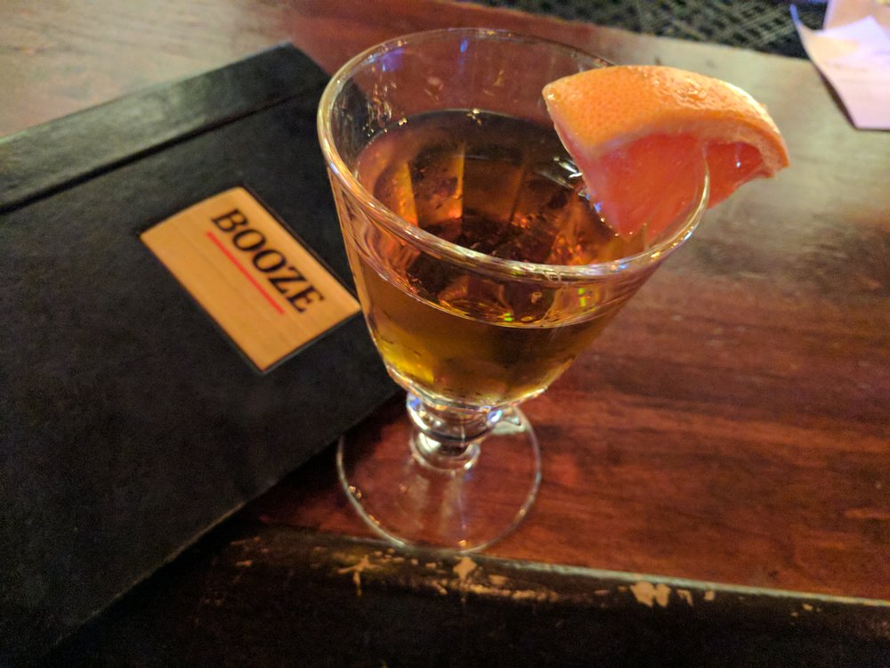 Barrel-aged Cocktail at Moody's