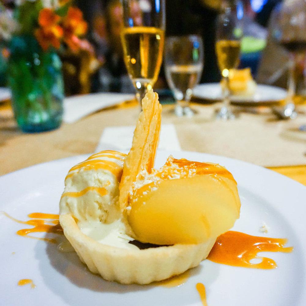 Dessert is served.