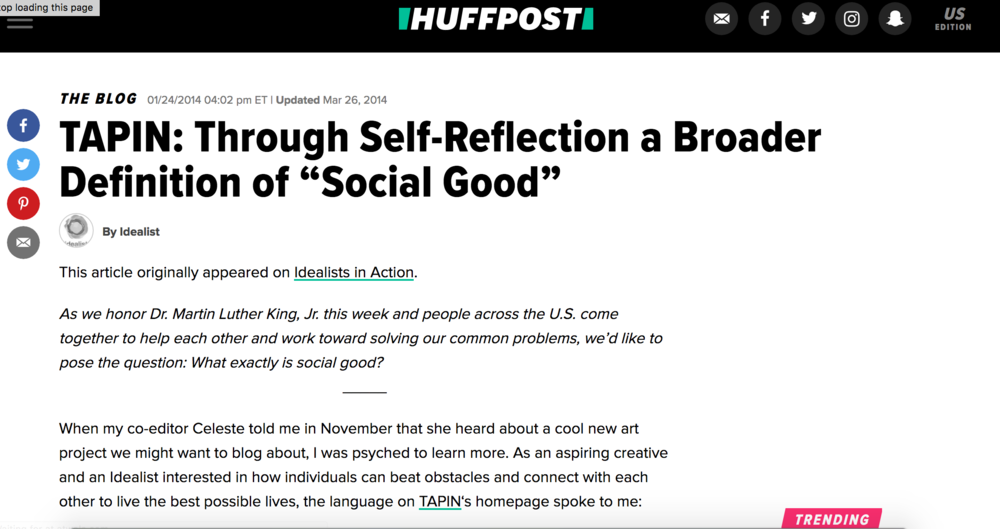 My interview featured in  Huffington Post  on the importance of interacting with our emotions.