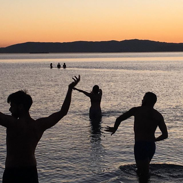 Something about dancing in the water and exploring gravity of bodies in liquid. #followthewater #waterdance #sunset