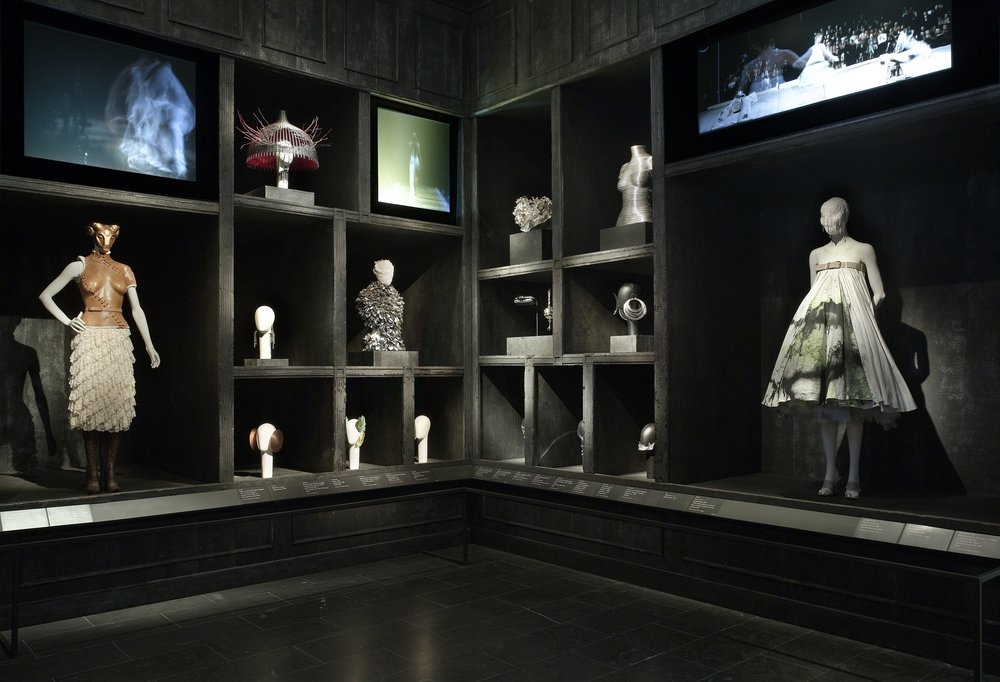 "The ""Cabinet of Curiosities"" from The Met's Alexander McQueen: Savage Beauty exhibit  Photo: © The Metropolitan Museum of Art, Gallery View of Alexander McQueen: Savage Beauty, 2011"