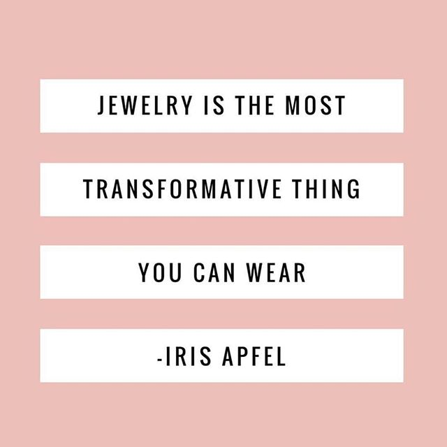 Words of wisdom from a true style icon @iris.apfel. #showushowushowitsdone #jewelrygenius #styleicon