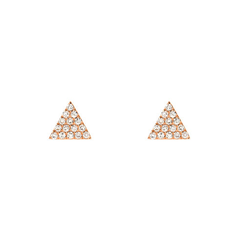 d6066799c 14KT Gold Pave Diamond Mini Triangle Stud