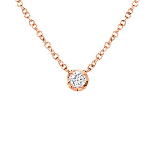 Necklaces the foundry 14kt gold tiny bezel diamond necklace mozeypictures Choice Image