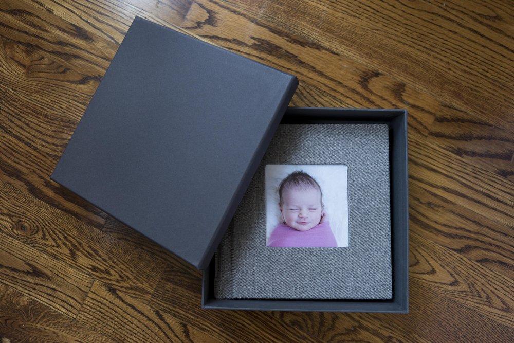 signature Newborn album with premium album box