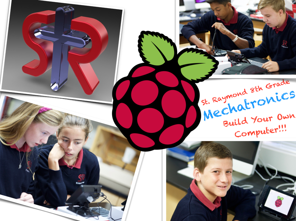 The Raspberry Pi logo above belongs to a very useful Linux platform that the 8th graders will be using all year.