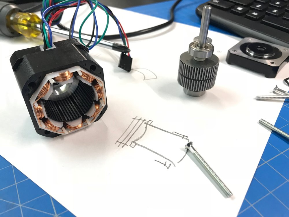 A NEMA 17 stepper motor taken apart in order to better understand it.