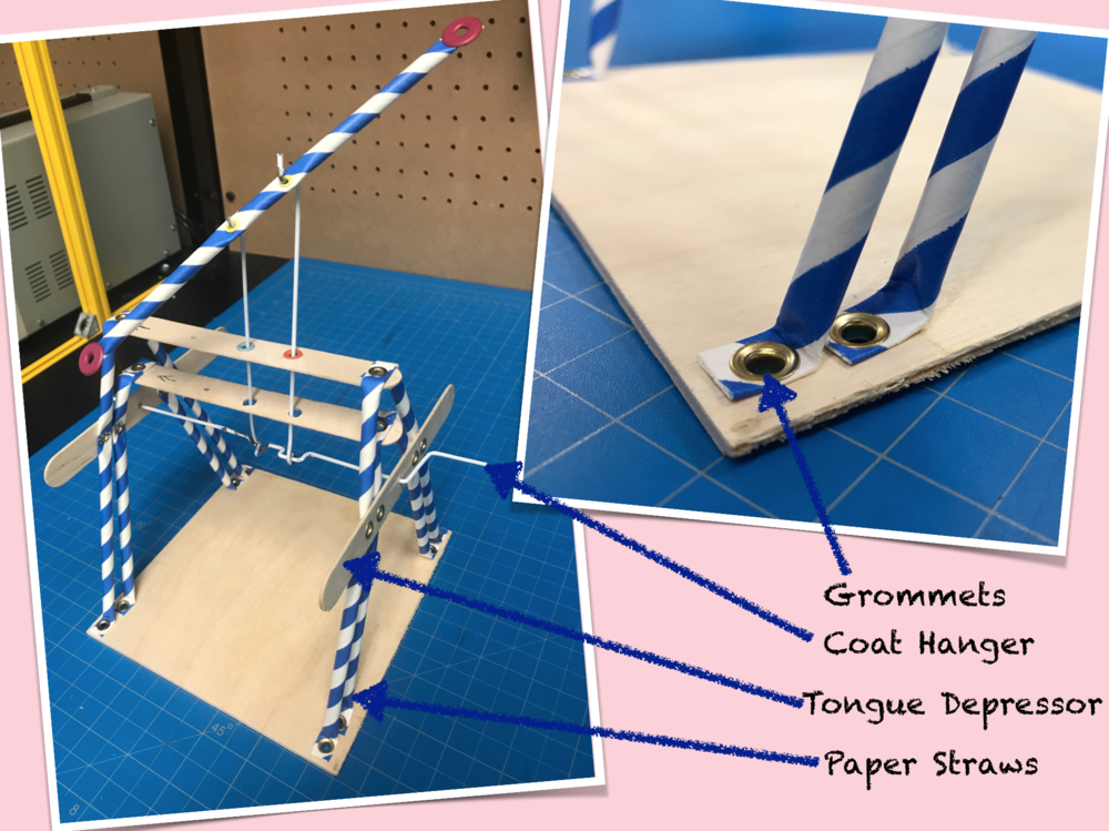 Somtimes a simple paper straw base is the best way to build a prototype.