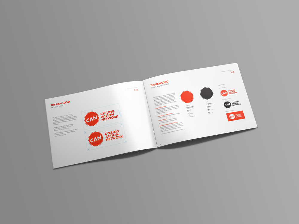 CAN Brand Identity Guidelines Spread Design