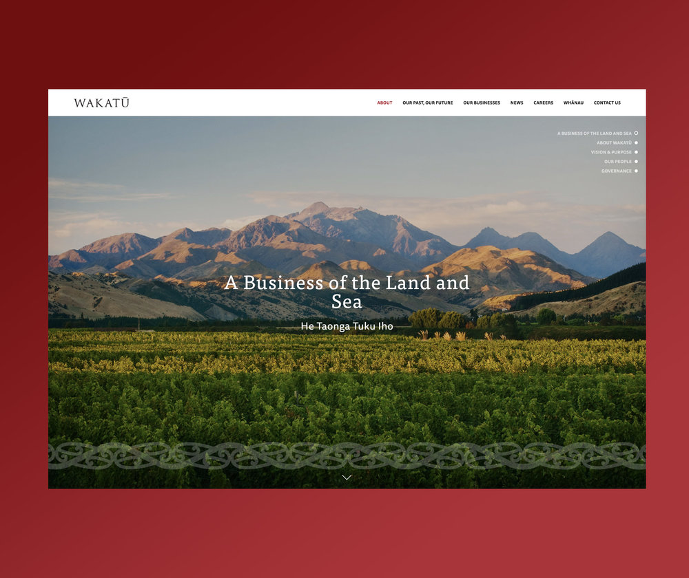 Wakatu Website Homepage Design
