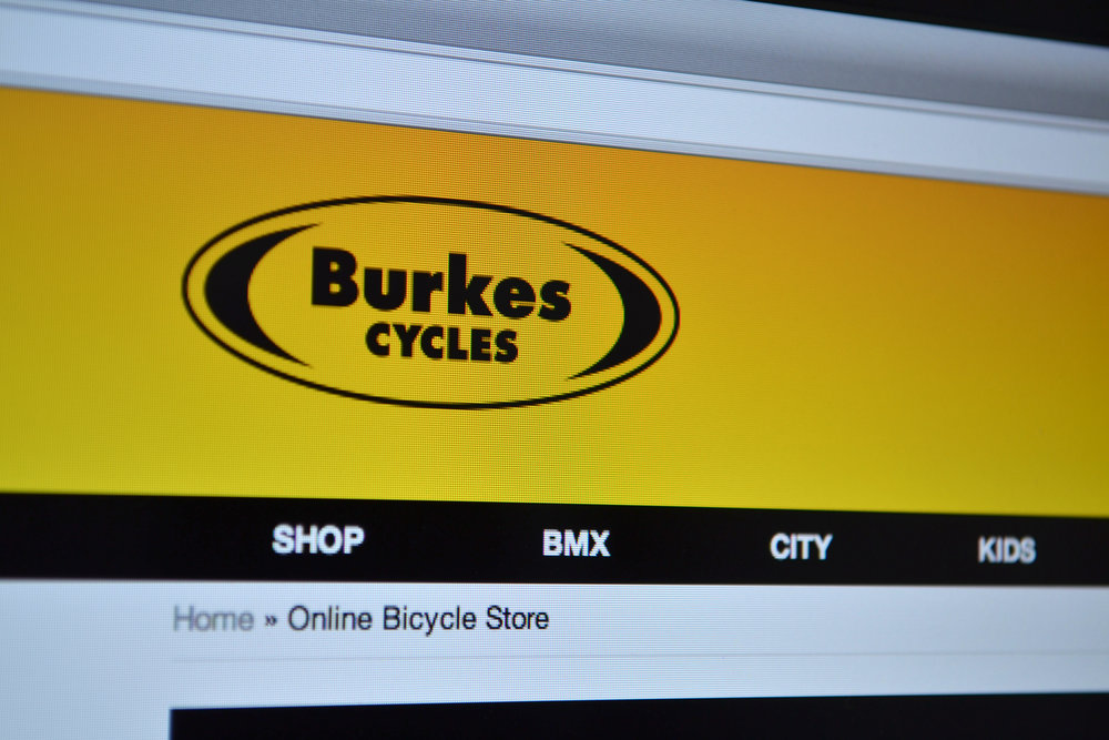 Burkes Cycles Website Homepage Design