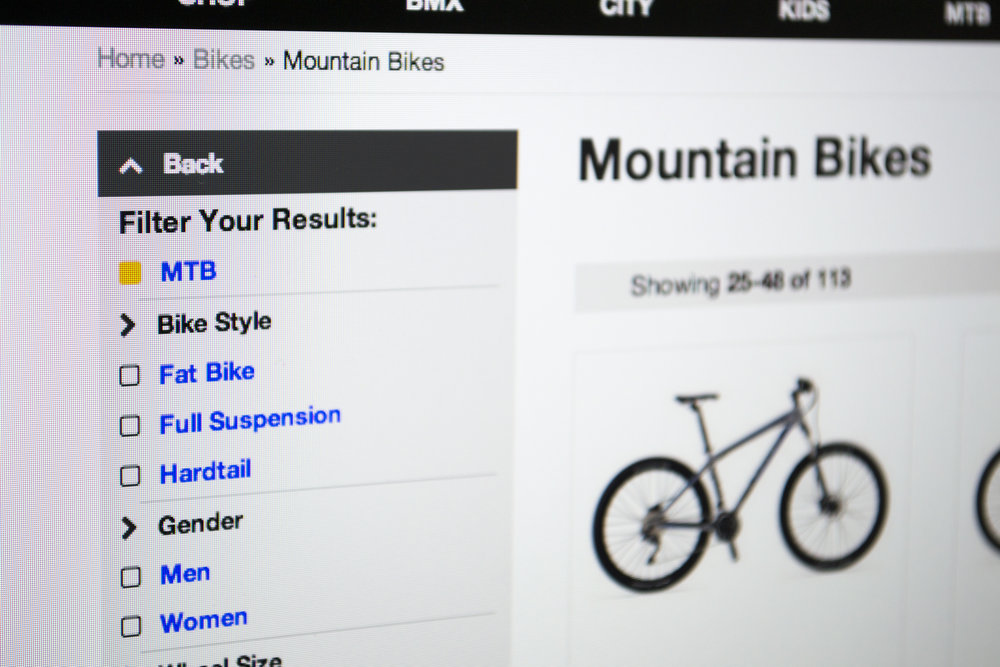 Burkes Cycles Website Menu Design