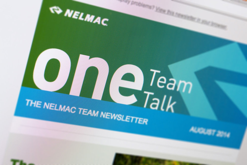 Nelmac One Team Talk Digital Newsletter Design