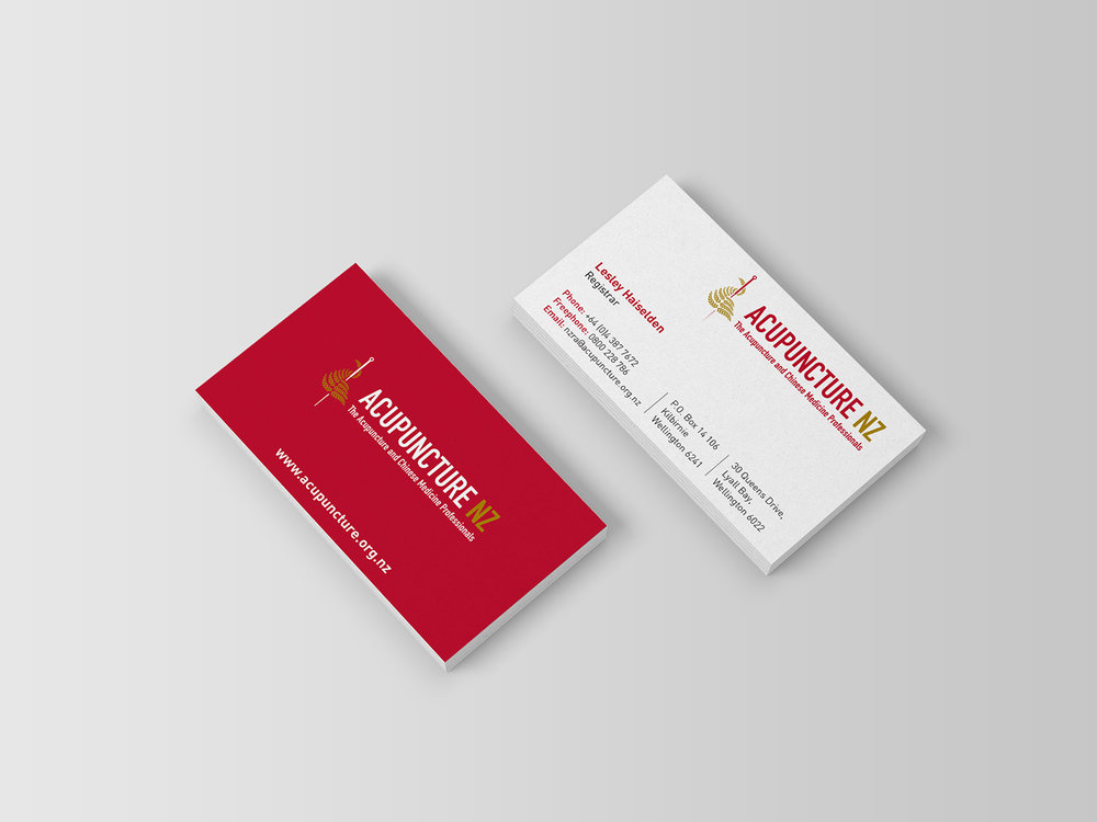 Acupuncture NZ Brand Identity Business Card Design