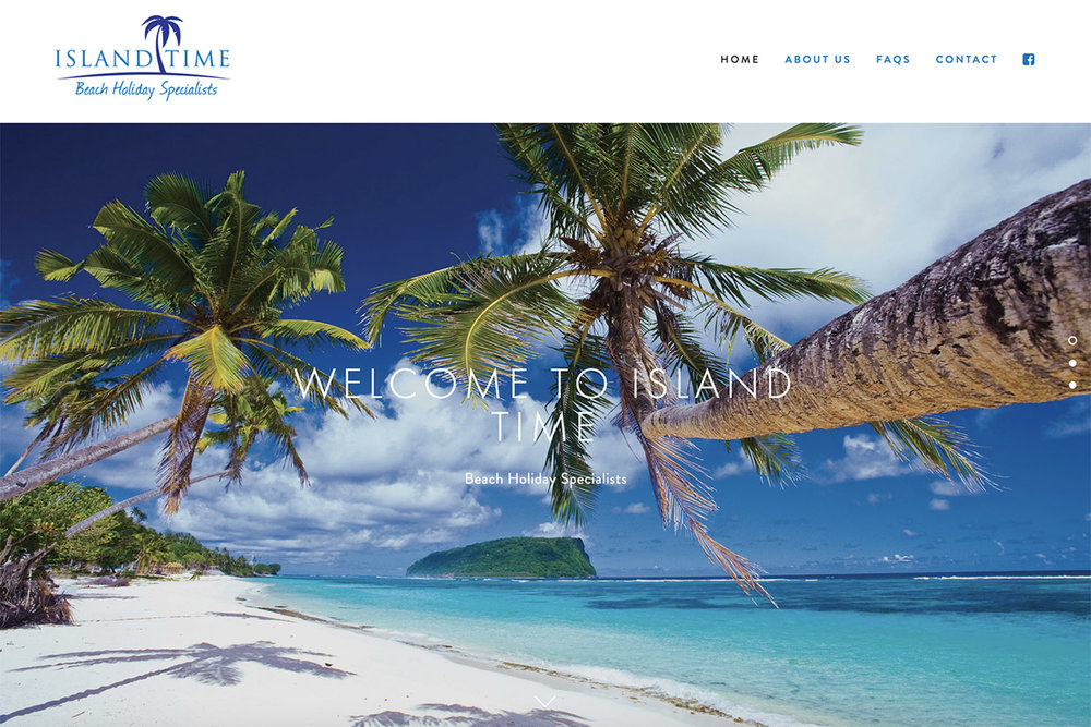 Island Time Website Homepage Design