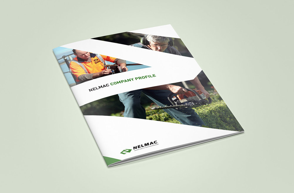 Nelmac Company Profile Cover Design