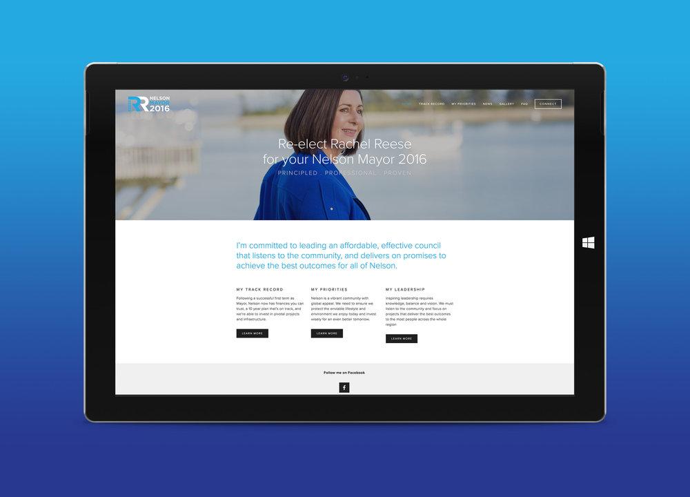Rachel Reese Campaign Website Homepage Design