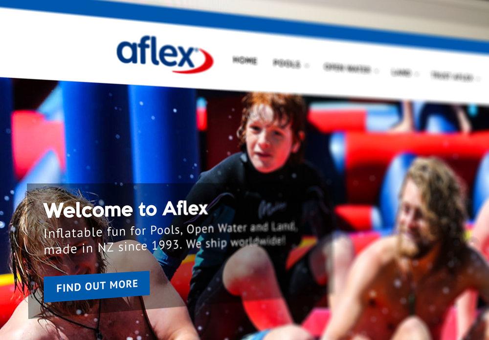 Aflex Website Homepage Design